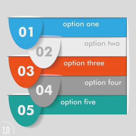 Five options template on the grey background  vector file  Vector