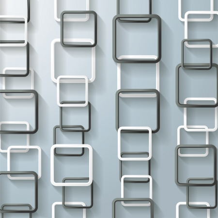 oblongs: Abstract rectangle chains on the grey background.