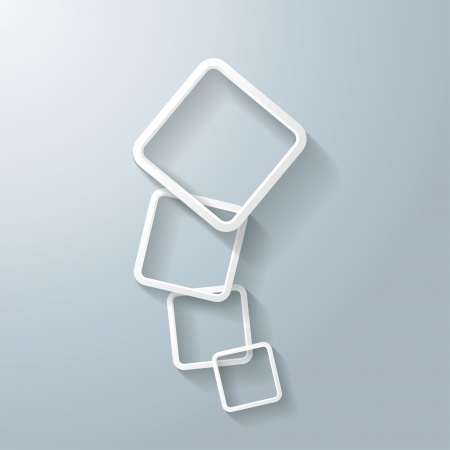 oblongs: Abstract rectangles on the grey background.