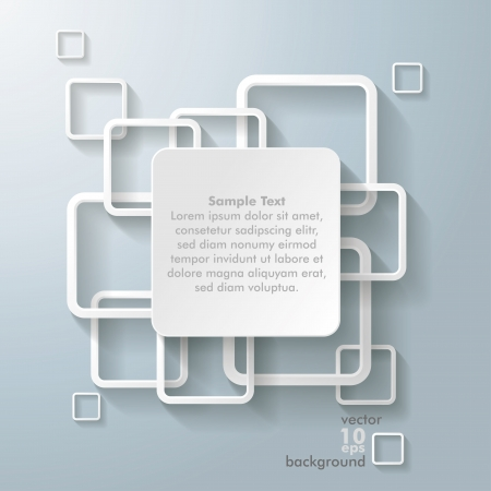 quadrat: Infographic design with white rectangle squares on the grey background.