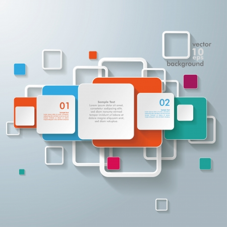 Infographic design with colorful rectangle squares on the grey background. Eps 10 vector file. Illustration