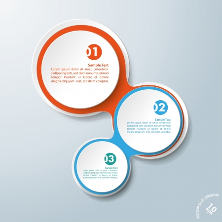 Infographic design with colored and white circles on the grey background. Eps 10 vector file. Ilustração