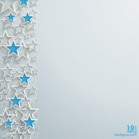 xmas background: Blue and white stars on the grey background