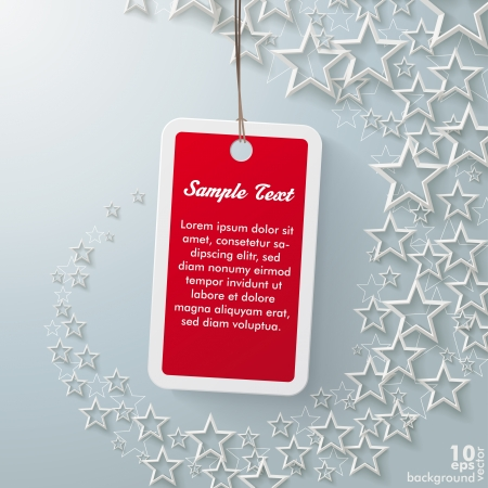 ten empty: Stars with shopping mark on the grey background Illustration
