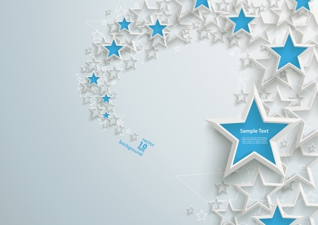 White stars on the grey background Vector