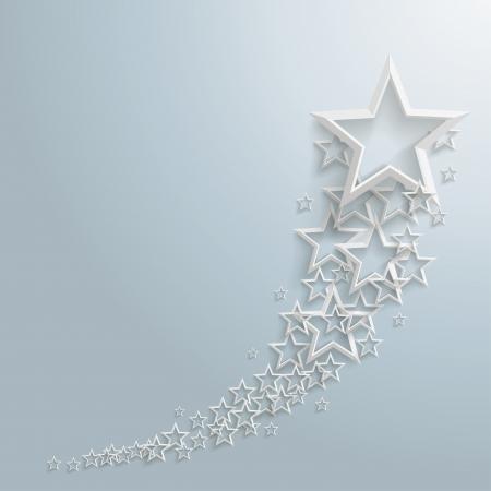x stand: Estrellas blancas en el fondo gris