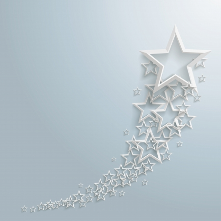 White stars on the grey background  Stock Vector - 21700242