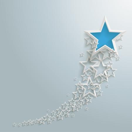 staub: Weiße Sterne auf dem grauen Hintergrund
