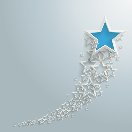 stand out: White stars on the grey background Illustration