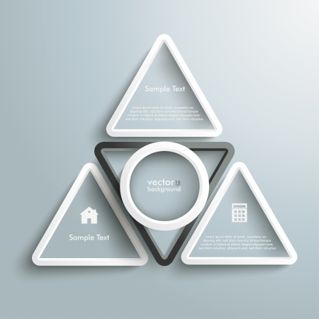White and black triangles on the grey background. Stock Vector - 21951417