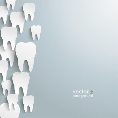 Infographic met witte tanden op de grijze achtergrond
