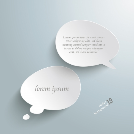 Infographic with bevel speech bubbles on the grey background.  Vector