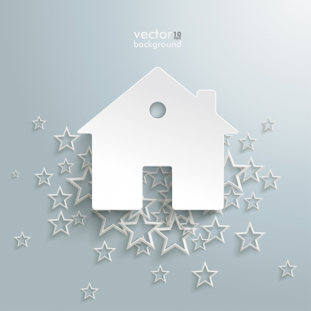 letting: White stars with a home on the grey background.