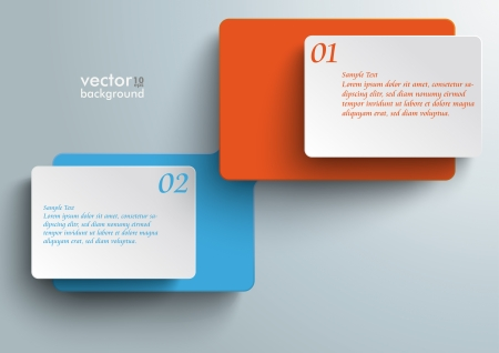 idea bubble: Connected rectangles on the grey background.  Illustration