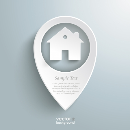 real estate: Infographic with white location marker on the grey background.