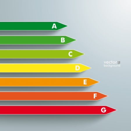 category: Energy efficiency category the grey background. Eps 10 vector file.