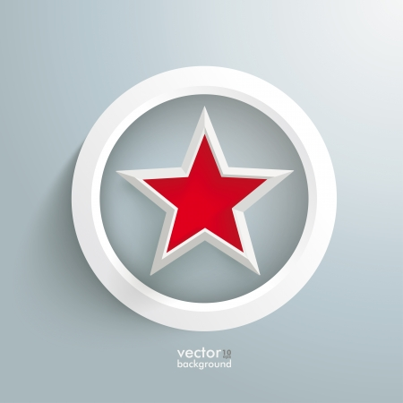 Infographic design with red star and white ring on the grey background. Eps 10 vector file. Vector