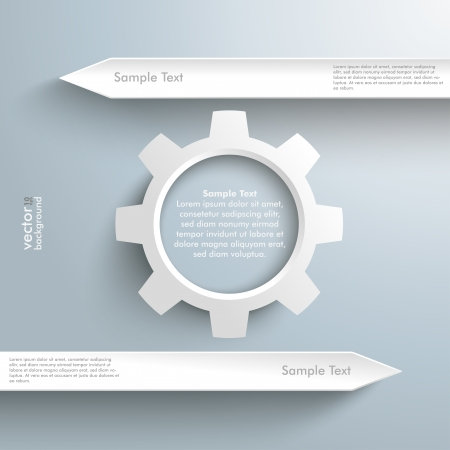Infographic with white arrows on the grey background. Eps 10 vector file. Vector