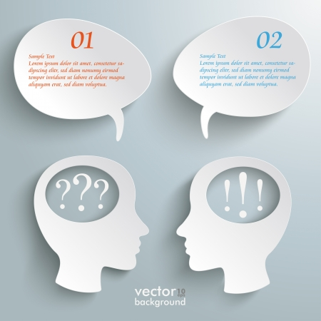 Infographic with white head on the grey background.  Vector