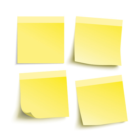 sticky notes: Infographic with yellow stickers on the grey background. Illustration