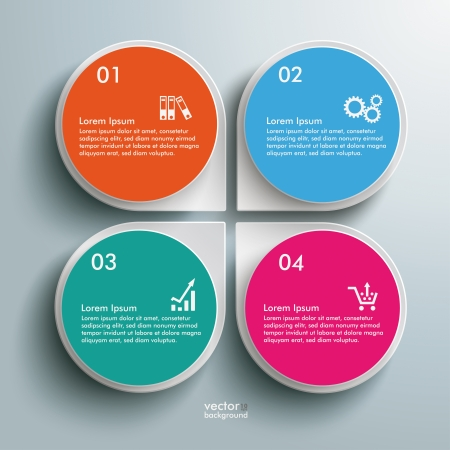 3d circle: Infographic design white circles on the grey background. Eps 10 vector file. Illustration