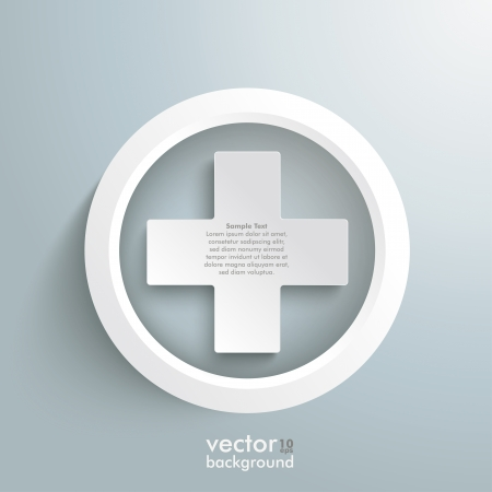White plus symbols on the grey background. Eps 10 vector file. Vector