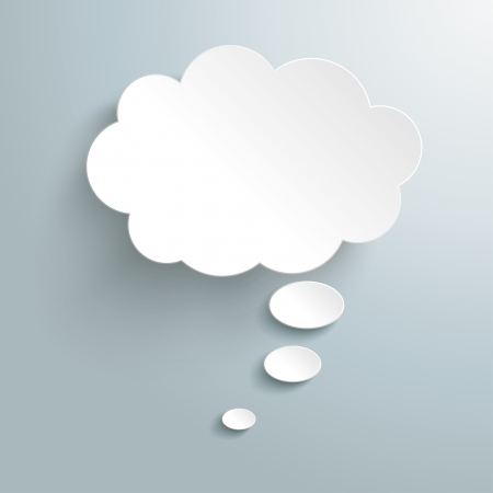 Infographic design witte gedachte bel op de grijze achtergrond. Eps 10 vector-bestand.