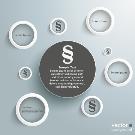 advocate: Infographic with white rings on the grey background.