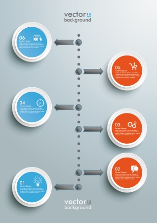 calendar day: Timeline design with clouds on the grey background. Eps 10 vector file.