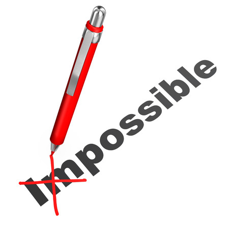 optimist: Text impossible with red ball pen on the white background.