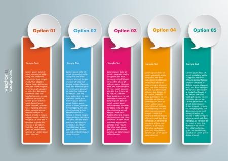 Farbige Banner auf dem grauen Hintergrund. EPS 10 Vektor-Datei.
