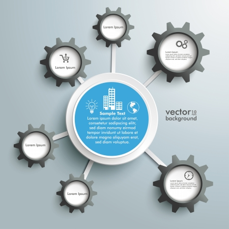 bot: Infographic design on the grey background. Eps 10 vector file.