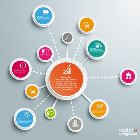 circles: Infographic design on the grey background. Eps 10 vector file.