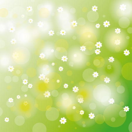 Easter background with flowers.  Vector