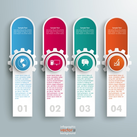 Infographic design on the grey background. Vector