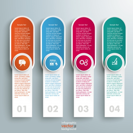 reklame: Infographic design on the grey background.