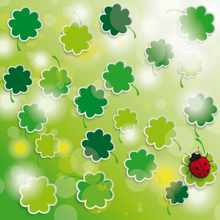 Colored easter background with shamrock. Eps 10 vector file. Vector