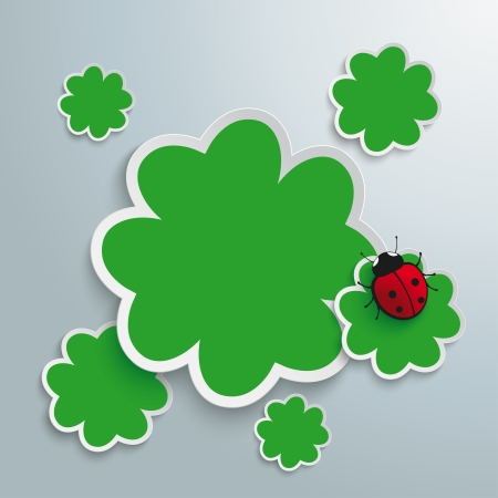 Green shmarocks on the grey background. Eps 10 vector file. Vector