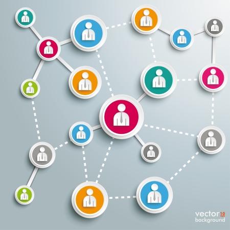 interaccion social: Dise�o Infograf�a sobre el fondo gris. EPS 10 archivos de vectores. Vectores