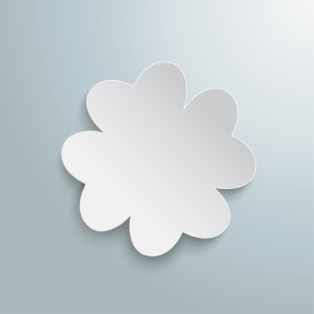 ire: White shamrock on the grey background. Eps 10 vector file.