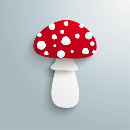 felicity: Fly agaric on the grey background. Eps 10 vector file.