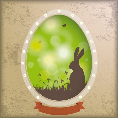 Vintage easter background design with brown colors. Vector