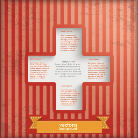 quadrat: Vintage background design with brown colors.  Illustration
