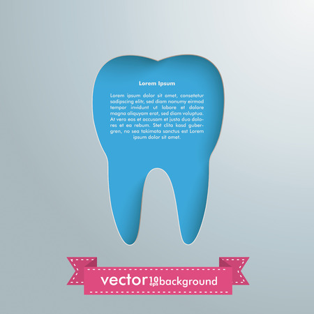 Silver background with tooth hole. Vector