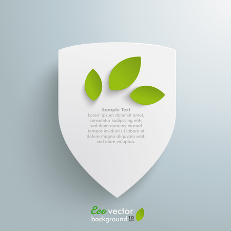 plant stand: Protection shield on the grey background.