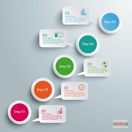 Infografik-Design auf dem grauen Hintergrund. EPS 10 Vektor-Datei. Illustration
