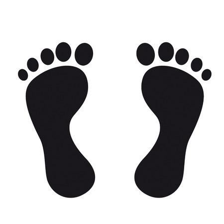 Schwarze Spuren auf dem weißen Hintergrund. EPS 10 Vektor-Datei. Illustration