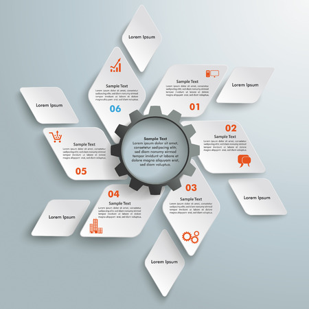 Infographic design with rhombus set on the grey background. Eps 10 vector file. Vector