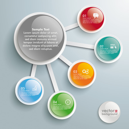 5 to 10: Infographic design on the grey background. Eps 10 vector file.