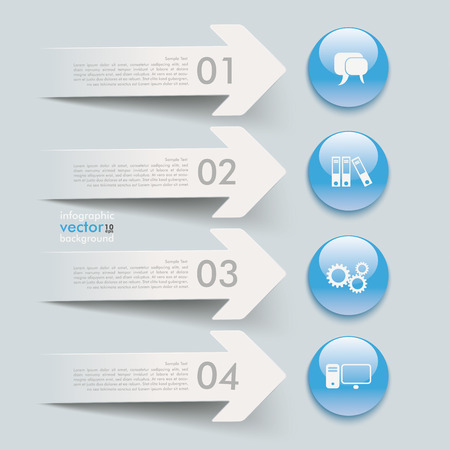 White paper arrows on the grey background. Eps 10 vector file. Vector